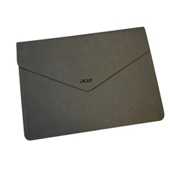 Acer Laptop Tablet Gray Leather Envelope Carrying Bag NC.23811.00E