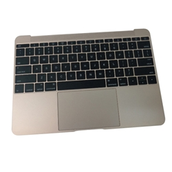 New Gold Palmrest Keyboard & Touchpad 613-01195-A For MacBook A1534 2015 12""
