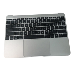 Silver Palmrest Keyboard & Touchpad 613-01195-B - MacBook A1534 2015