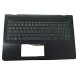 HP Pavilion 15-CB 15T-CB Palmrest w/ Green Backlit Keyboard 926893-001
