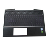 HP Pavilion 15-CX 15T-CX Palmrest & Violet Backlit Keyboard L20672-001