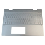 HP ENVY 15-CN 15T-CN Silver Palmrest w/ Backlit Keyboard L20746-001