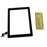 New Black Touch Screen Glass Digitizer, Home Button & Adhesive For iPad 2 Tablet