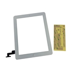 New White Touch Screen Glass Digitizer, Home Button & Adhesive For iPad 2 Tablet