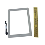 New White Touch Screen Glass Digitizer, Home Button & Adhesive For iPad 3 iPad 4