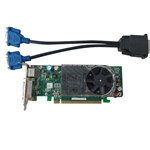 Dell Optiplex 745 755 SFF Video Card XX355 w/ Cable DMS-59 To Dual VGA
