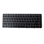 Backlit Keyboard w/ Silver Frame for HP Elitebook 1040 G3 Laptops