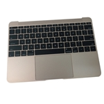 Gold Palmrest Keyboard & TP 613-01195-A For MacBook A1534 2015 12""
