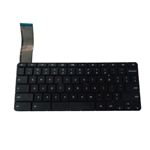 New Black Keyboard for HP Chromebook 14-X Laptops - No Frame