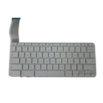 New White Keyboard for HP Chromebook 14-X Laptops - No Frame