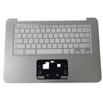 Genuine HP Chromebook 14-X Silver Palmrest & Keyboard 787735-001