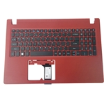 Acer Aspire A315-31 A315-51 Red Palmrest & US Keyboard 6B.GR5N7.028