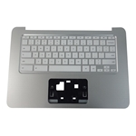 Genuine HP Chromebook 14-AK Silver Palmrest w/ US Keyboard 830878-001