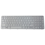 White Keyboard w/ Frame for HP Pavilion 15-E 15-N Laptops