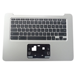 HP Chromebook 14 G4 Silver Palmrest & Keyboard 834913-001