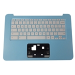 Genuine HP Chromebook 14-AK Sky Blue Palmrest & Keyboard 830879-001