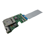HP Pavilion 15-AB USB Network Card Reader Board w/ Cable 809038-001