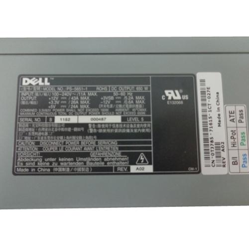 . TJ785 Dell 650 Watt Power Supply for PowerEdge 1800